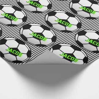 Personalized Soccer Themed Wrapping Paper