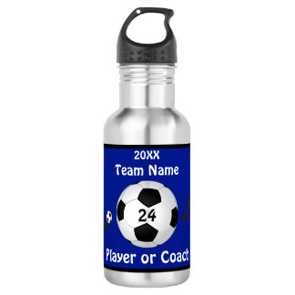 Personalized Soccer Water Bottles Players, Coaches