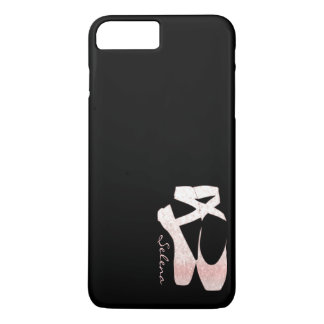 Personalized Soft Gradient Pink Ballet Shoes iPhone 8 Plus/7 Plus Case