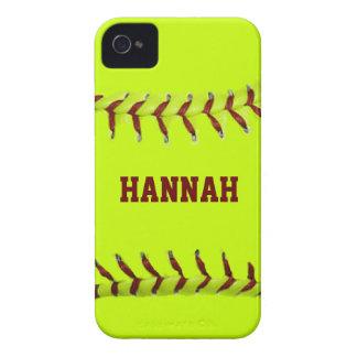 Personalized Softball Blackberry Case