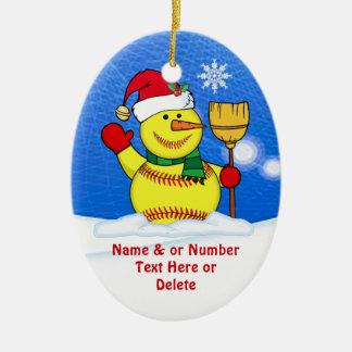 Personalized Softball Christmas Tree Ornaments