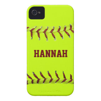 Personalized Softball iPhone 4 Cases