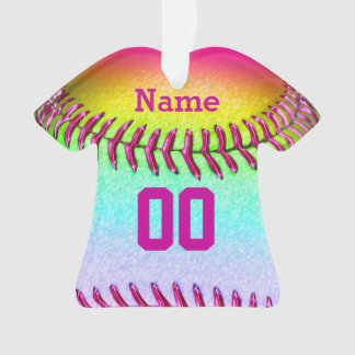 Personalized Softball Ornaments HER NUMBER & NAME
