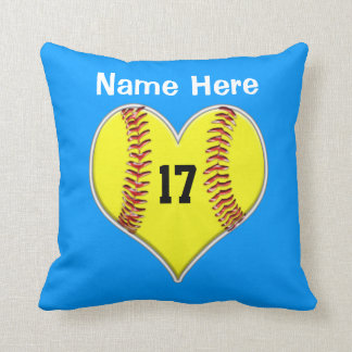 PERSONALIZED Softball Pillows with NAME and NUMBER