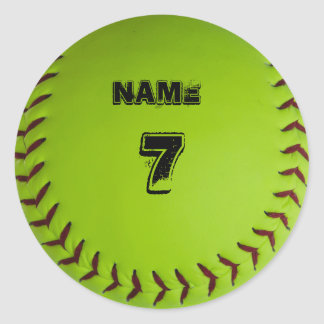Personalized softball sticker