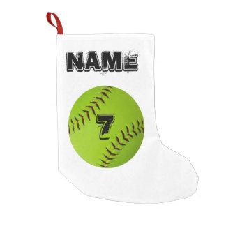 Personalized softball stocking