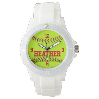 Personalized Softball Wrist Watch