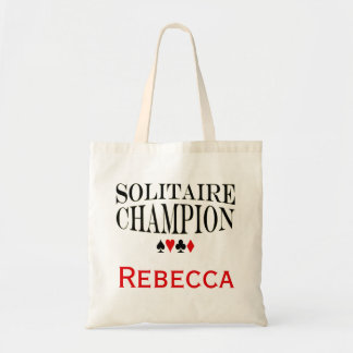 Personalized Solitaire Champion Budget Tote Bag
