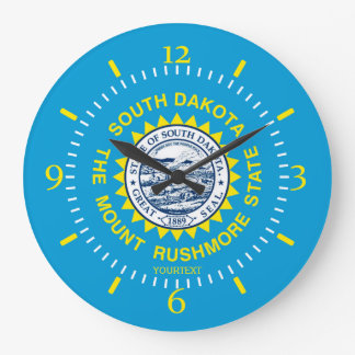 Personalized South Dakota State Flag Design on a Large Clock