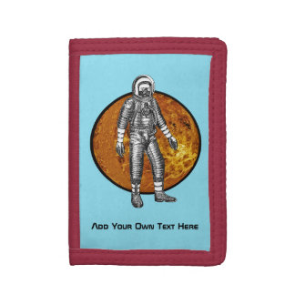Personalized Spaceman TriFold Wallet
