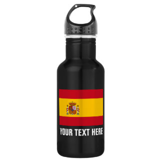 Personalized Spanish flag water bottles for Spain 532 Ml Water Bottle