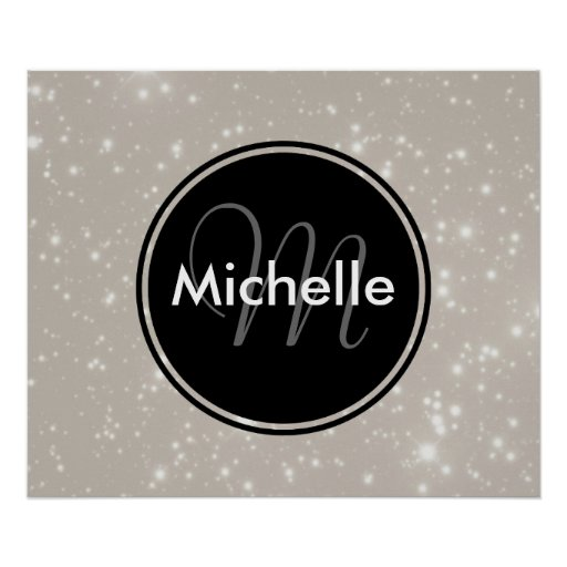 Personalized Sparkles in the Sky Print