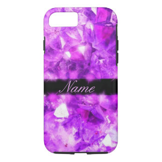 Personalized Sparkling Amethyst iPhone 8/7 Case