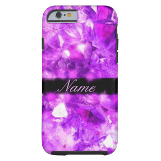 Personalized Sparkling Amethyst Tough iPhone 6 Case