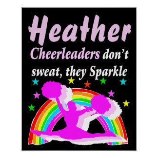 PERSONALIZED SPARKLING CHEERLEADER POSTER