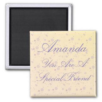 Personalized Special Friend Purple Magic Magnet