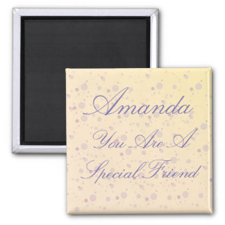 Personalized Special Friend Purple Magic Square Magnet