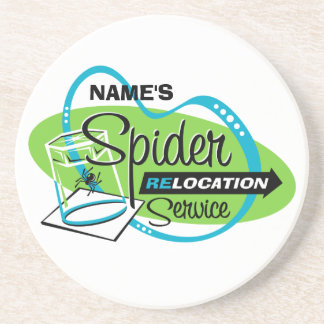 PERSONALIZED Spider Relocation Service Coaster