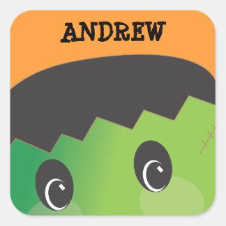 Personalized Spooky Monster Halloween Sticker