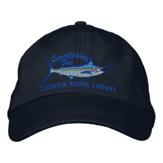 Personalized Sport Fishing Blue Marlin Embroidery Embroidered Hat