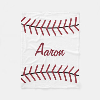 Personalized Sports Baseball Bedroom Blanket Gift