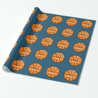 Personalized Sports Basketball Wrapping Paper