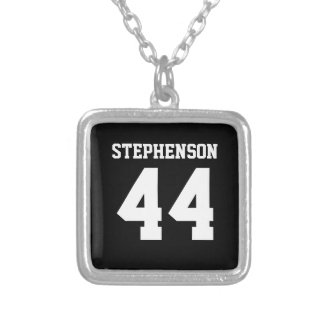 Personalized Sports Name Number Athlete Pendant
