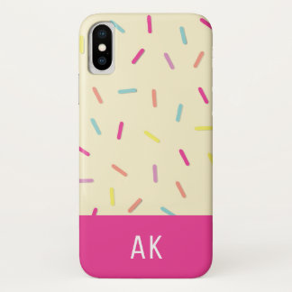 Personalized Sprinkles Cake Batter iPhone X case