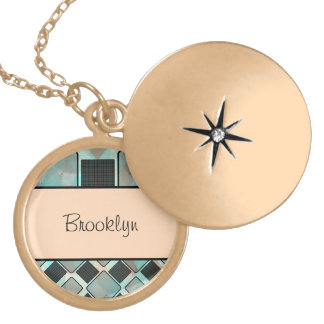 Personalized Square Pattern Necklace
