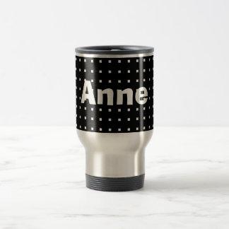 Personalized Square Print Minimalistic Black Anne Travel Mug
