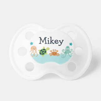 "Personalized ""Squirt Bubbles/Sealife"" Pacifier"