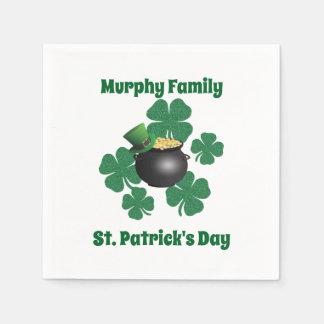 Personalized St. Patrick's Day Disposable Serviettes