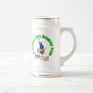 Personalized St Patrick's drinking team Beer Steins