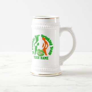 Personalized St Patrick's drinking team Coffee Mugs