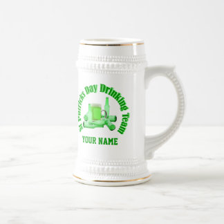 Personalized St Patrick's drinking team Mugs