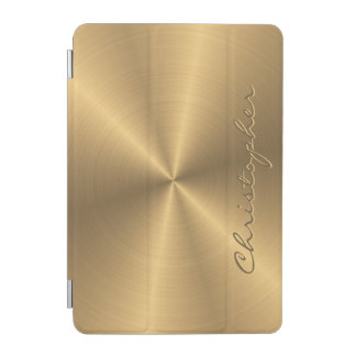 Personalized Stainless Steel Gold Metallic Radial iPad Mini Cover
