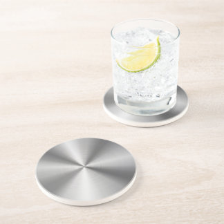 Personalized Stainless Steel Metallic Radial Look Beverage Coasters
