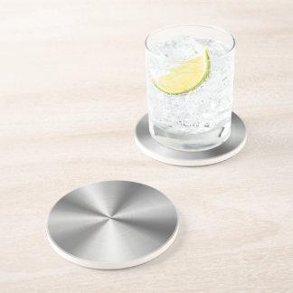 Personalized Stainless Steel Metallic Radial Look Beverage Coasters