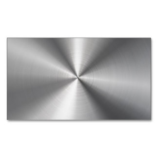 Personalized Stainless Steel Metallic Radial Look Magnetic Business Cards