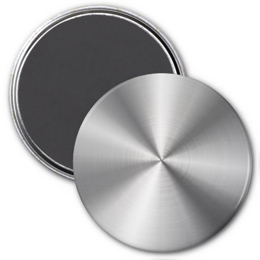 Personalized Stainless Steel Metallic Radial Magnets