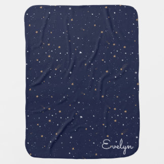 Personalized Starry Sky Print Baby Blanket