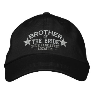 Personalized Stars Brother of the Bride Embroidery Embroidered Baseball Caps