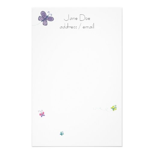 Personalized Stationary Stationery Paper