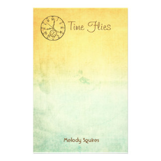 Personalized Stationery -- Yellow Blue Sunset