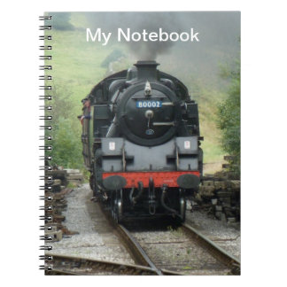 Personalized Steam Train Notebook