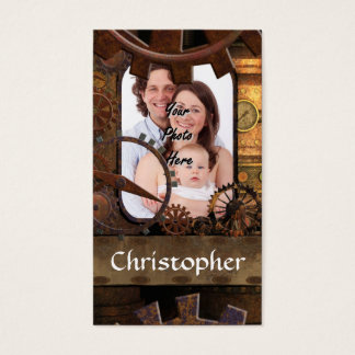 Personalized steampunk machinery business card