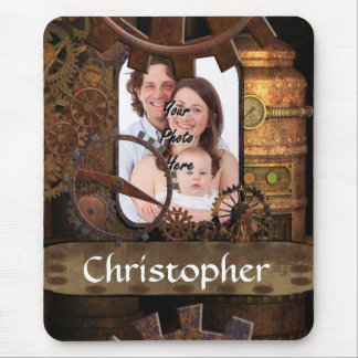 Personalized steampunk machinery mouse pad