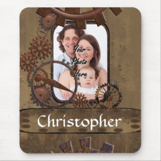 Personalized steampunk photo template mousepads