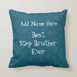 Personalized Step Brother Throw Pillow