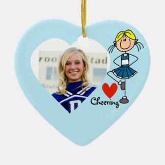 Personalized Stick Figure Love Cheering Ornament